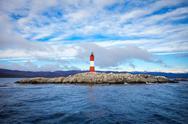 Les Eclaireurs Lighthouse, Ushuaia Stock Photos