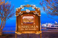 Ushuaia Fin Del Mundo Stock Photos