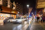 Night street in Ushuaia Stock Photos