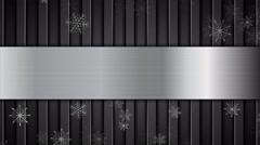 Christmas metallic animated background with snowflakes Stock Footage