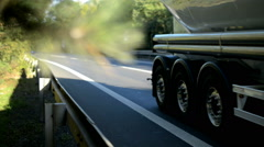 Detail of crash barrier with speeding cars, nine times acceleration, Stock Footage