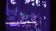 1971: picnic in forest area is seen OMAHA, NEBRASKA Stock Footage