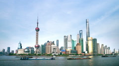 Shanghai the bund skyline timelapse Stock Footage