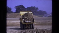 1976: construction area beside mud FORT WAYNE, INDIANA Stock Footage