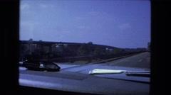 1976: car is seen FORT WAYNE, INDIANA Stock Footage
