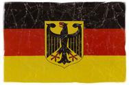German flag on white Stock Photos