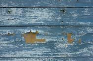 Wooden background with peeling paint Stock Photos