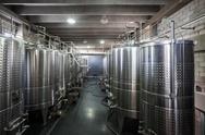 Wine Fermenting in vats Stock Photos