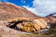 Inca's Bridge near Mendoza Stock Photos