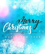 Merry Christmas and Happy New Year concept greeting card design. Stock Illustration