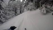 GoPro Skiing between trees Stock Footage