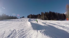 GoPro Snowboard Jump Stock Footage