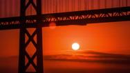 Time Lapses - Sunrise at Bay Bridge, San Francisco Stock Footage
