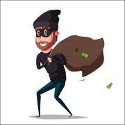 Cute thief character. Vector cartoon illustration Piirros