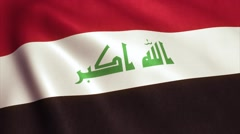 Iraq Flag Loop Video Animation 4K Stock Footage