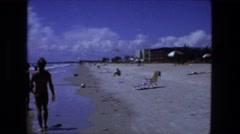 1976: beach scene is seen FORT WAYNE, INDIANA Stock Footage