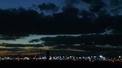 Illuminated airport Frankfurt, Germany Stock Footage