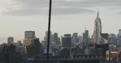 New York City skyline - Empire State Building - 4k Stock Footage