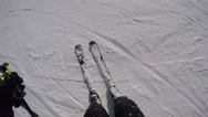 GoPro Hero 4 Skiing Stock Footage