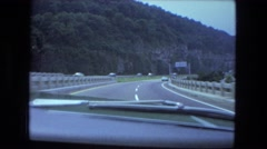 1976: mountain area is seen traveling by road FORT WAYNE, INDIANA Stock Footage