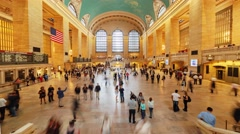 Timelapse of passenger activity inside Grand Central Terminal in New York, USA Stock Footage
