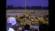 1976: audience watches demonstration of construction vehicles FORT WAYNE Stock Footage