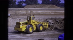 1976: construction area beside mud FORT WAYNE, INDIANA Stock Footage