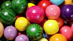 Multi-colored sweets, lollipops and chewing gum Stock Footage