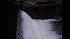 1957: water flows rushing down HICKSVILLE, NEW YORK Stock Footage