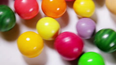Multicolored sweets and chewing gum Stock Footage