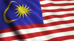 Malaysia Flag Loop Video Animation 4K Stock Footage
