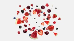 Berry blast, explode berries, mask included,  Stock Footage