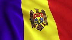 Moldova Flag Loop Video Animation 4K Stock Footage