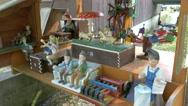 4K Miniature Zwerg Genome figurine Berchtesgaden National Park Ramsau Zauberwald Stock Footage