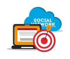 Digital social network communication related icons image Stock Illustration