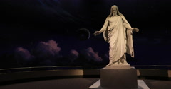Christus Statue Jesus Christ LDS Church DCI 4K Stock Footage