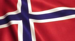 Norway Flag Loop Video Animation 4K Stock Footage