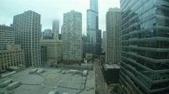 Chicago Wabash Avenue Timelapse Stock Footage