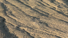 Dry mud dunes,desert looking area Stock Footage