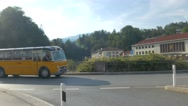 4K Nostalgic Bus in Berchtesgaden train station area Bavaria Germany Europe Stock Footage