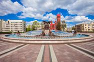 Independence Square in Minsk Stock Photos
