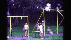 1971: when kids love swinging OMAHA, NEBRASKA Stock Footage