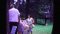 1971: picnic on sunny day OMAHA, NEBRASKA Stock Footage