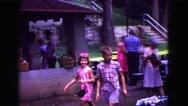 1971: picnic in garden area is seen OMAHA, NEBRASKA Stock Footage