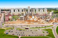Minsk aerial panoramic view Stock Photos