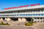 Minsk National Airport, Belarus Stock Photos