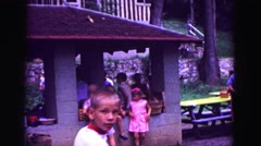 1971: market area beside road area is seen OMAHA, NEBRASKA Stock Footage