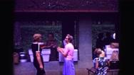 1971: people talking at hut during community gathering OMAHA, NEBRASKA Stock Footage