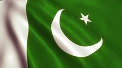 Pakistan Flag Loop Video Animation 4K Stock Footage