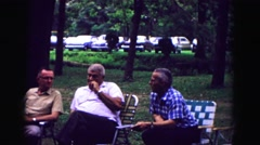 1971: enjoying the day OMAHA, NEBRASKA Stock Footage